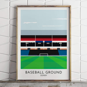 Derby - Baseball Ground - Contemporary Stadium Print