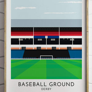 Turf Football Art Derby - Baseball Ground - Contemporary Stadium Print