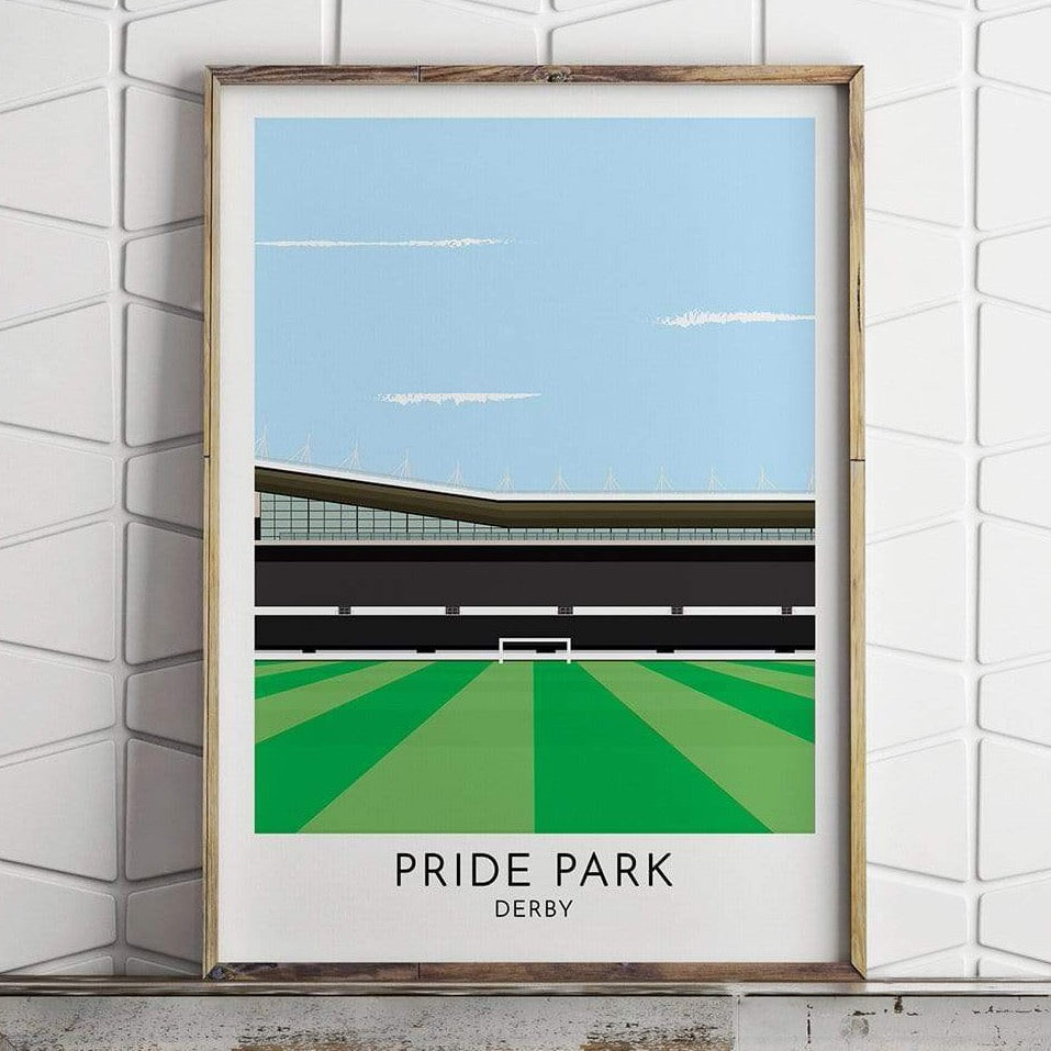 Derby - Pride Park - Contemporary Stadium Print - Football Shirt Collective