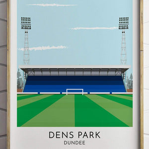 Turf Football Art Dundee - Dens Park - Contemporary Stadium Print
