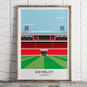 Turf Football Art England - Old Wembley - Contemporary Stadium Print