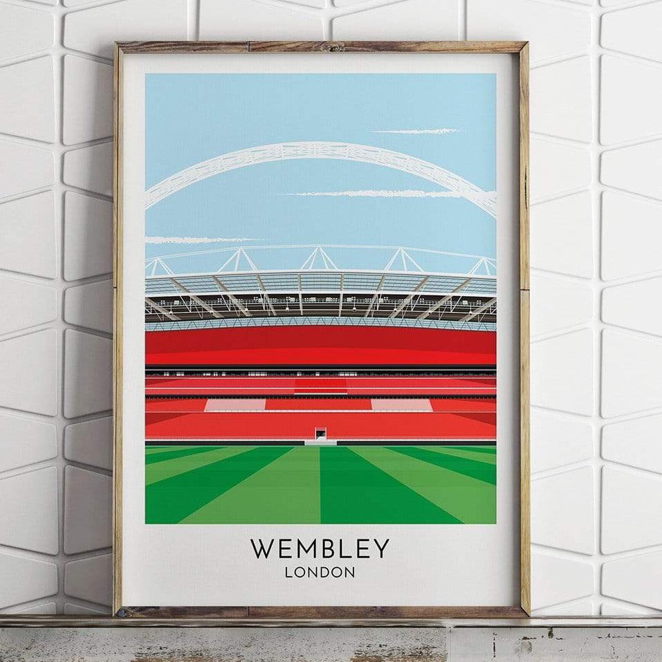 England - Wembley - Contemporary Stadium Print - Football Shirt Collective