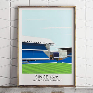 Turf Football Art Everton - Stadium - Contemporary Stadium Print