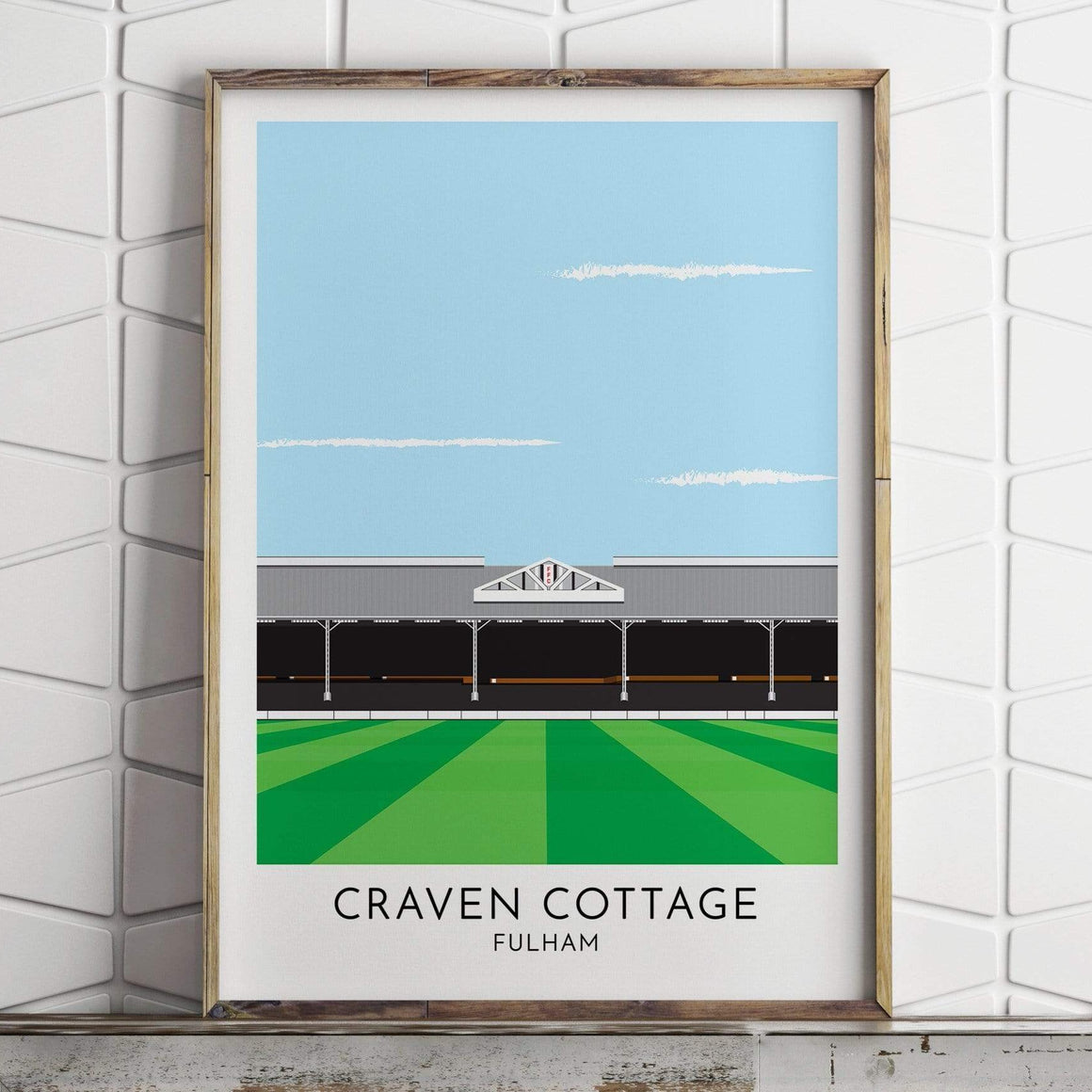 Fulham - Craven Cottage - Contemporary Stadium Print