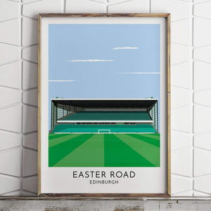Hibernian - Easter Road - Contemporary Stadium Print