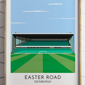 Turf Football Art Hibernian - Easter Road - Contemporary Stadium Print