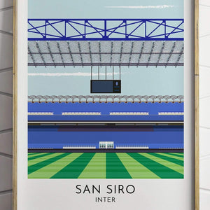 Turf Football Art Inter - San Siro - Contemporary Stadium Print