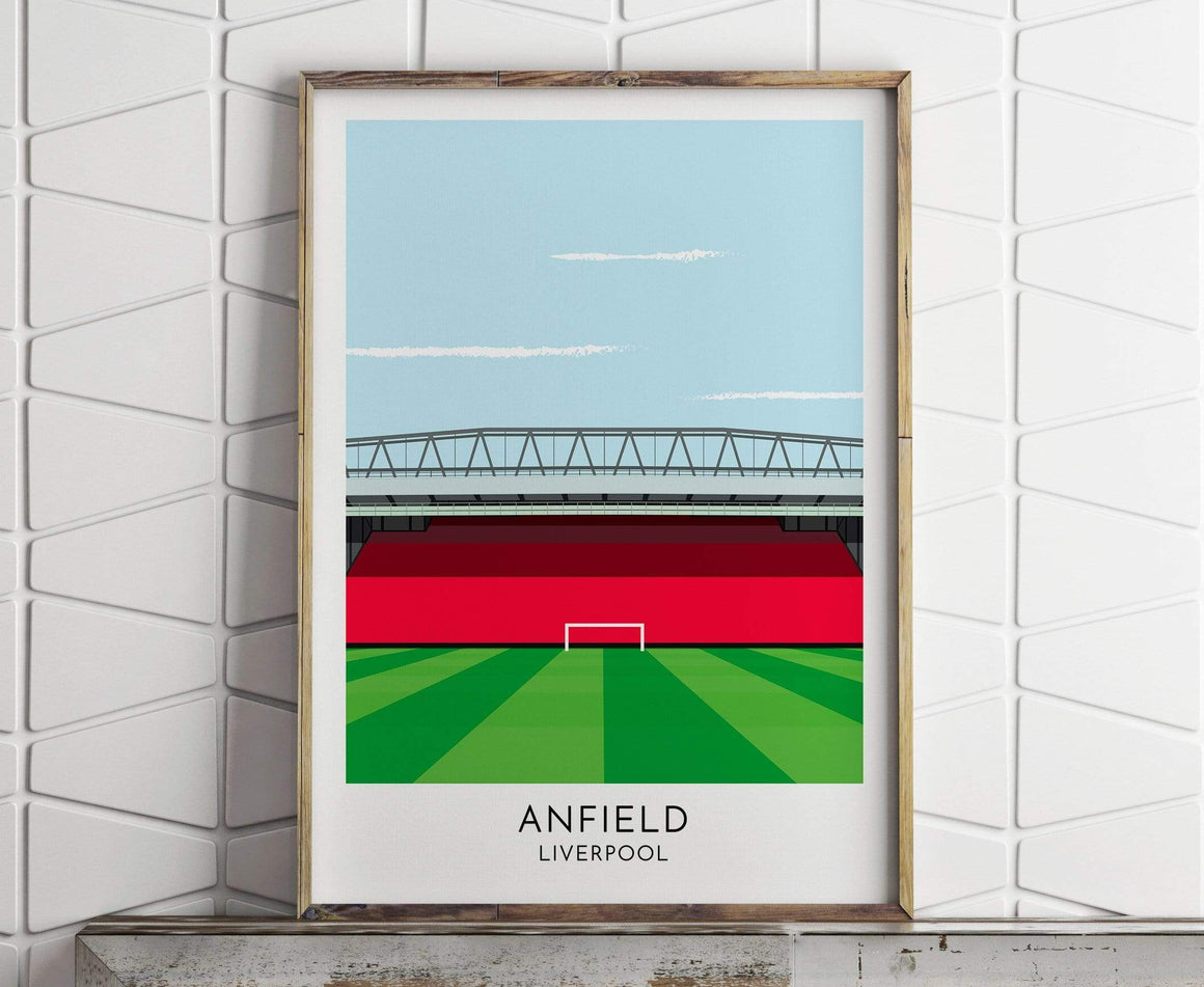 Turf Football Art Liverpool - Anfield -  Contemporary Stadium Print
