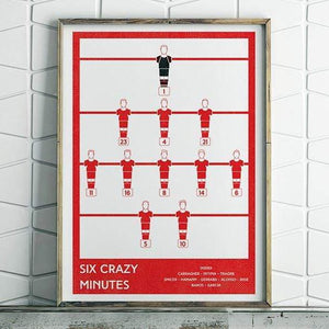 Liverpool FC, Six Crazy Minutes print - Football Shirt Collective