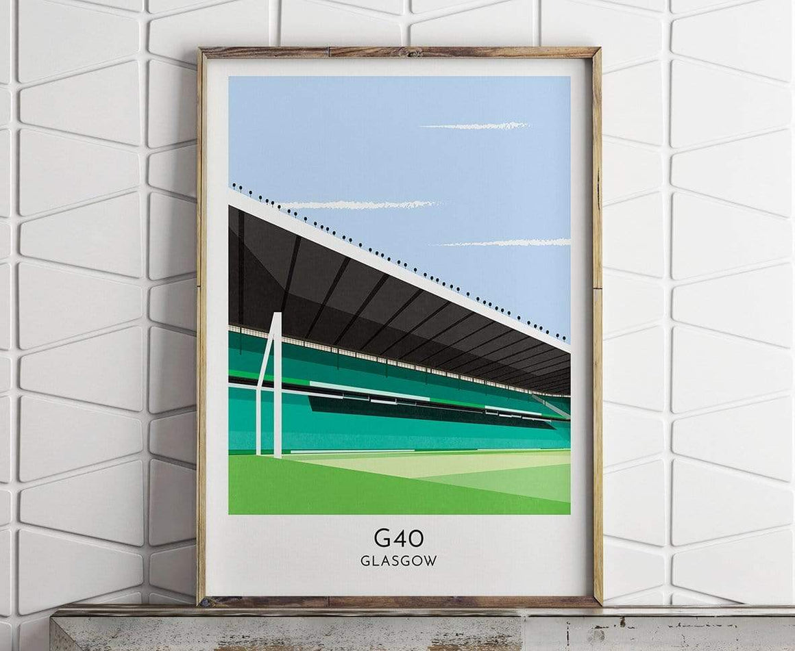 Parkhead - Contemporary Stadium Print - Football Shirt Collective