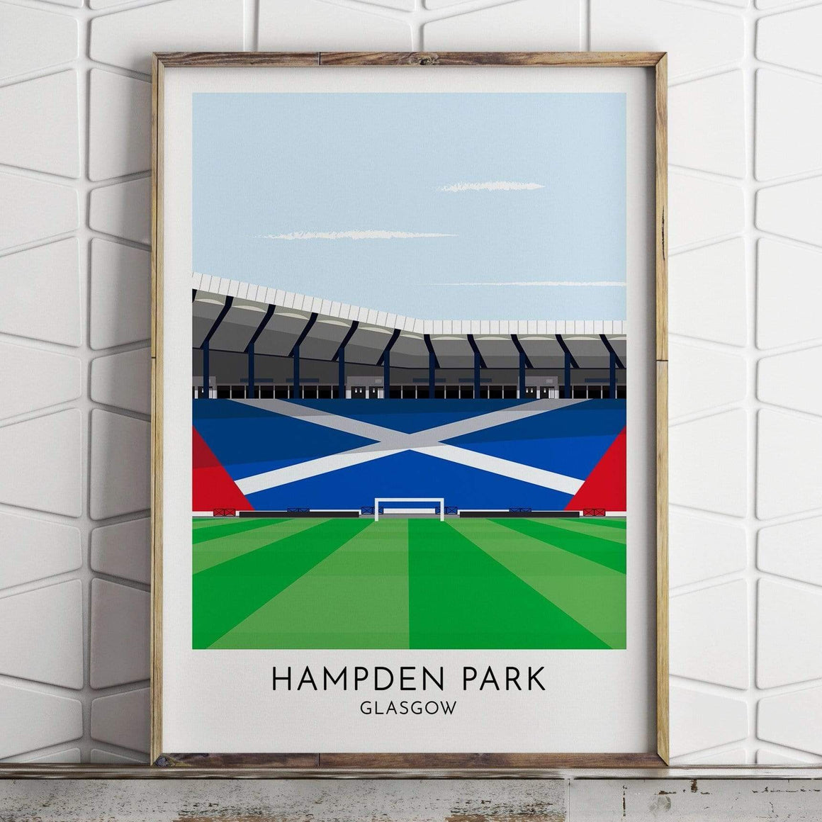 Turf Football Art Scotland - Hampden Park - Contemporary Stadium Print