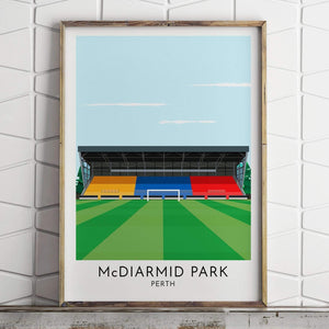 Turf Football Art St. Johnstone - McDiarmid Park - Contemporary Stadium Print