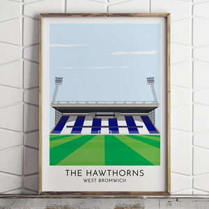 Turf Football Art West Bromwich - Hawthorns - Contemporary Stadium Print