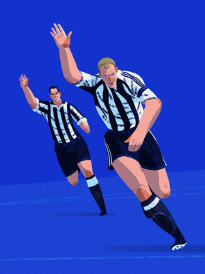 Alan Shearer Newcastle United A3 print - Football Shirt Collective
