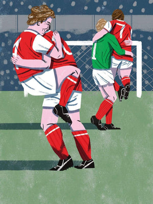 Your First Football Shirt Bob Wilson Arsenal A3 print