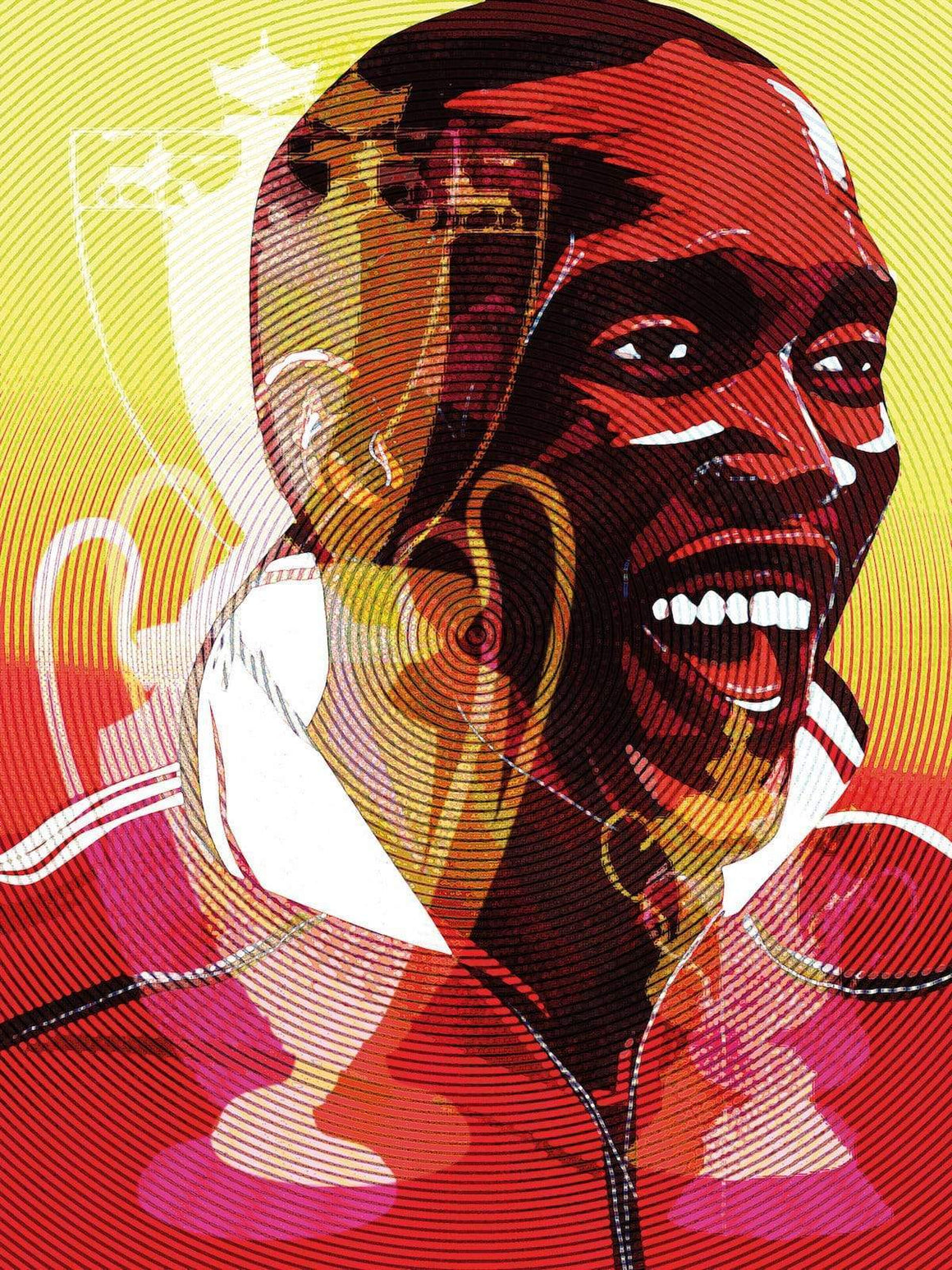 Dwight Yorke Manchester United A3 print - Football Shirt Collective