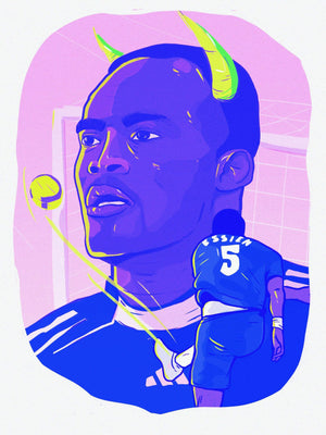 Essien x Chelsea A3 print - Football Shirt Collective