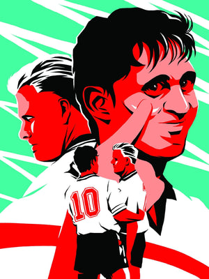 Your First Football Shirt Gary Lineker, Gazza England 1990 A3 print