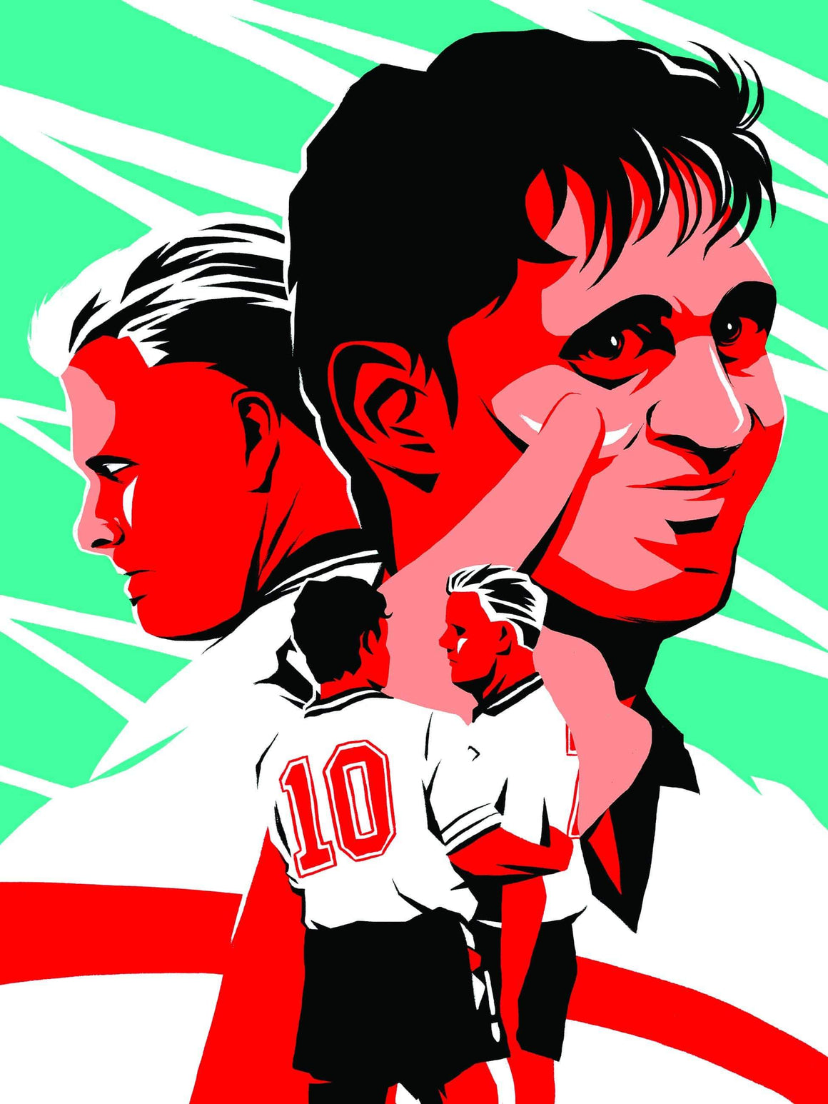 Gary Lineker, Gazza England 1990 A3 print - Football Shirt Collective
