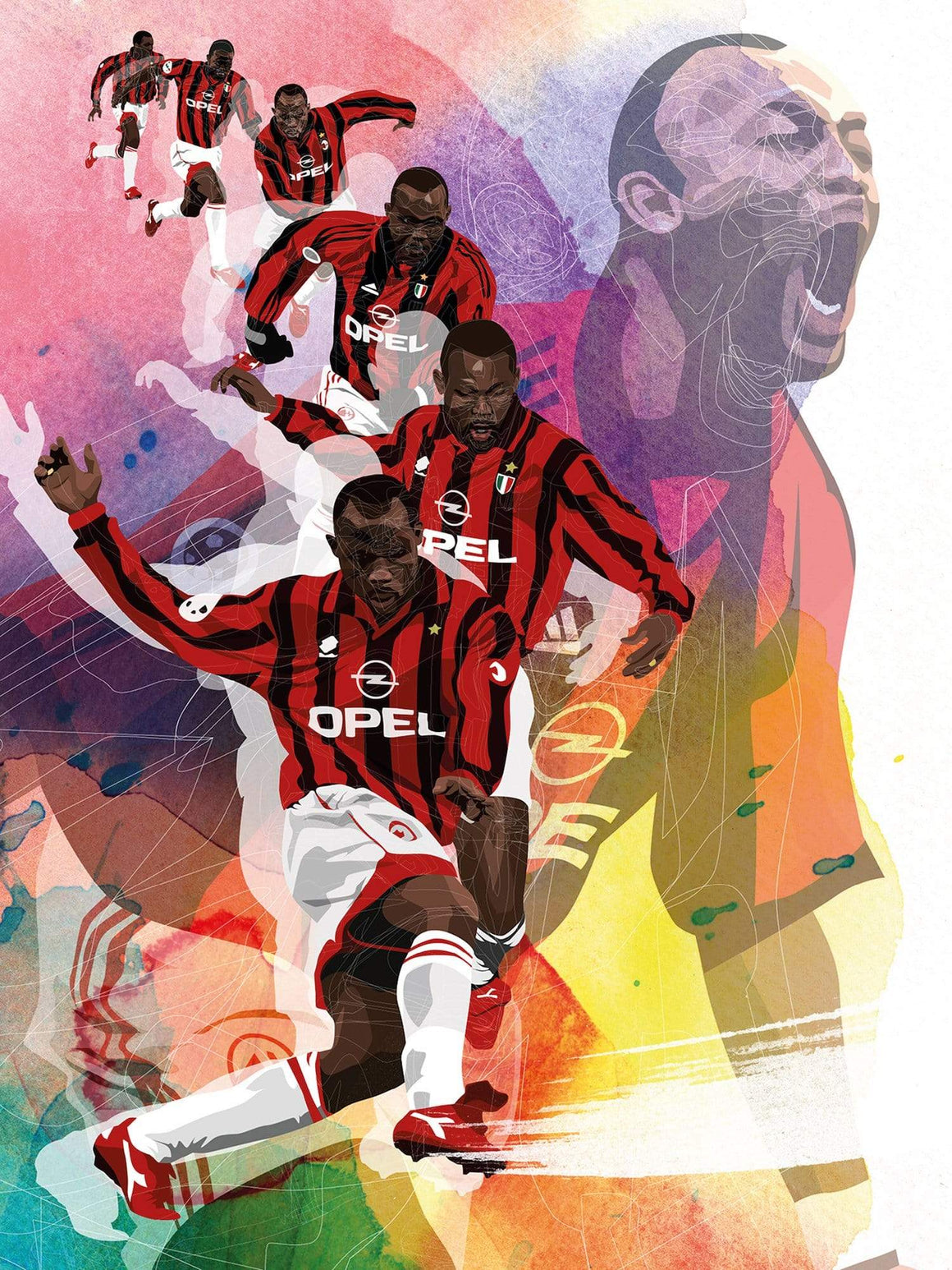 George Weah x AC Milan A3 print - Football Shirt Collective