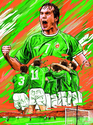 Jason McAteer x Ireland A3 print - Football Shirt Collective