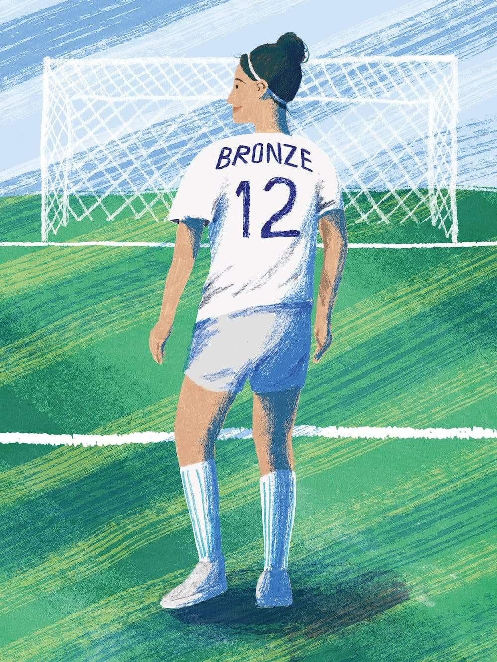 Your First Football Shirt Lucy Bronze England A3 print