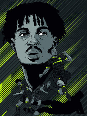 Nathaniel Chalobah, Chelsea A3 print - Football Shirt Collective