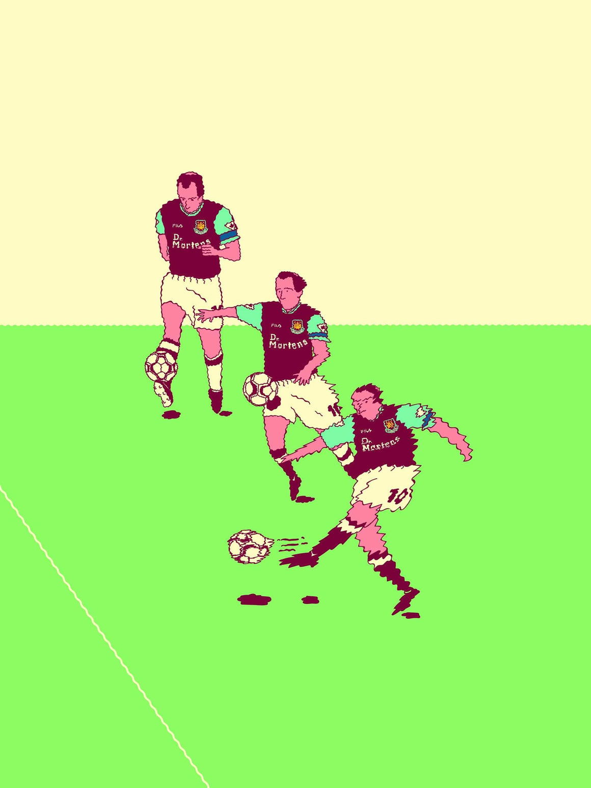 Your First Football Shirt Paolo Di Canio x West Ham A3 print