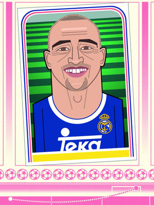 Your First Football Shirt Roberto Carlos, Real Madrid A3 print