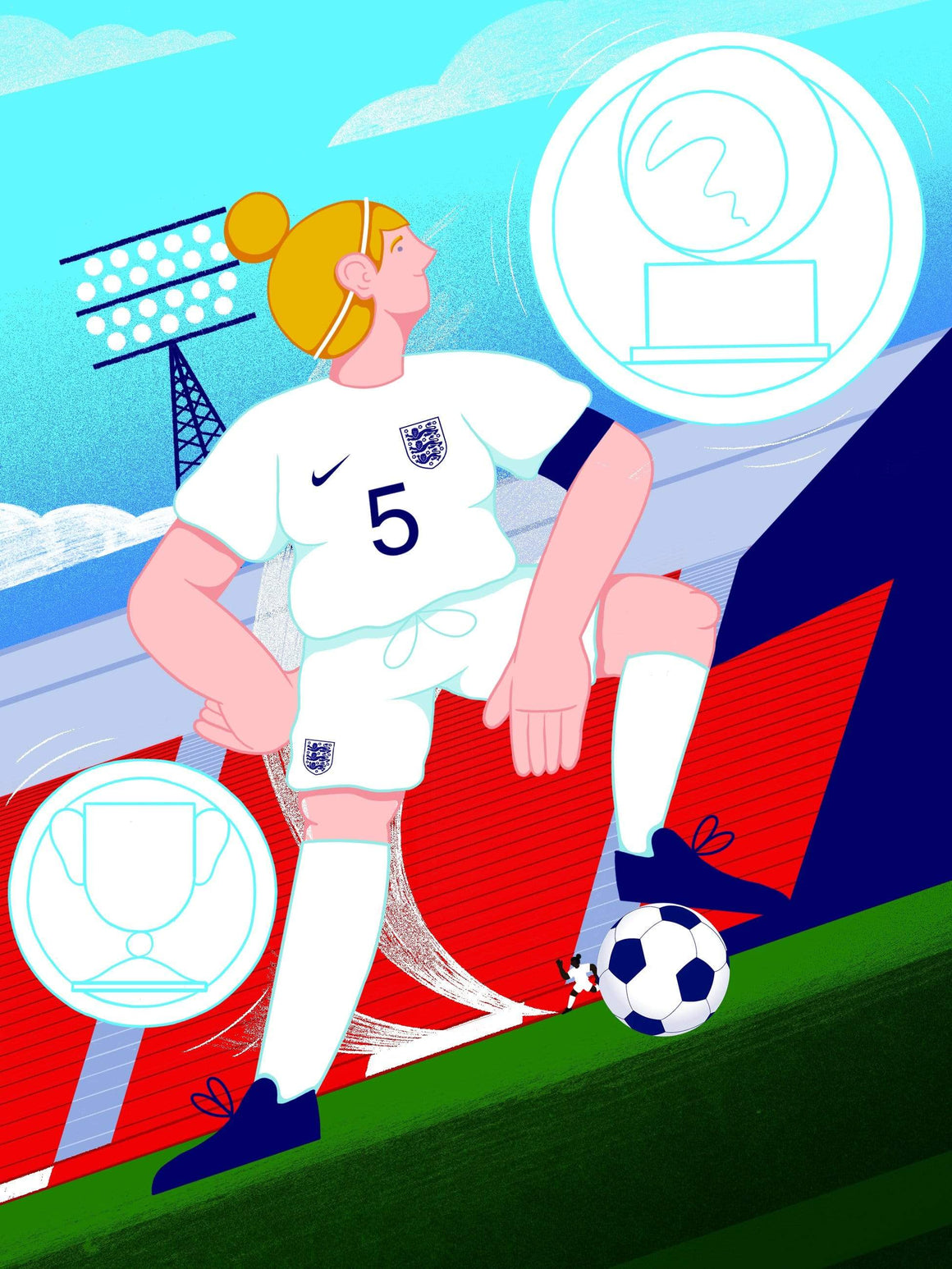 Steph Houghton x England A3 print - Football Shirt Collective