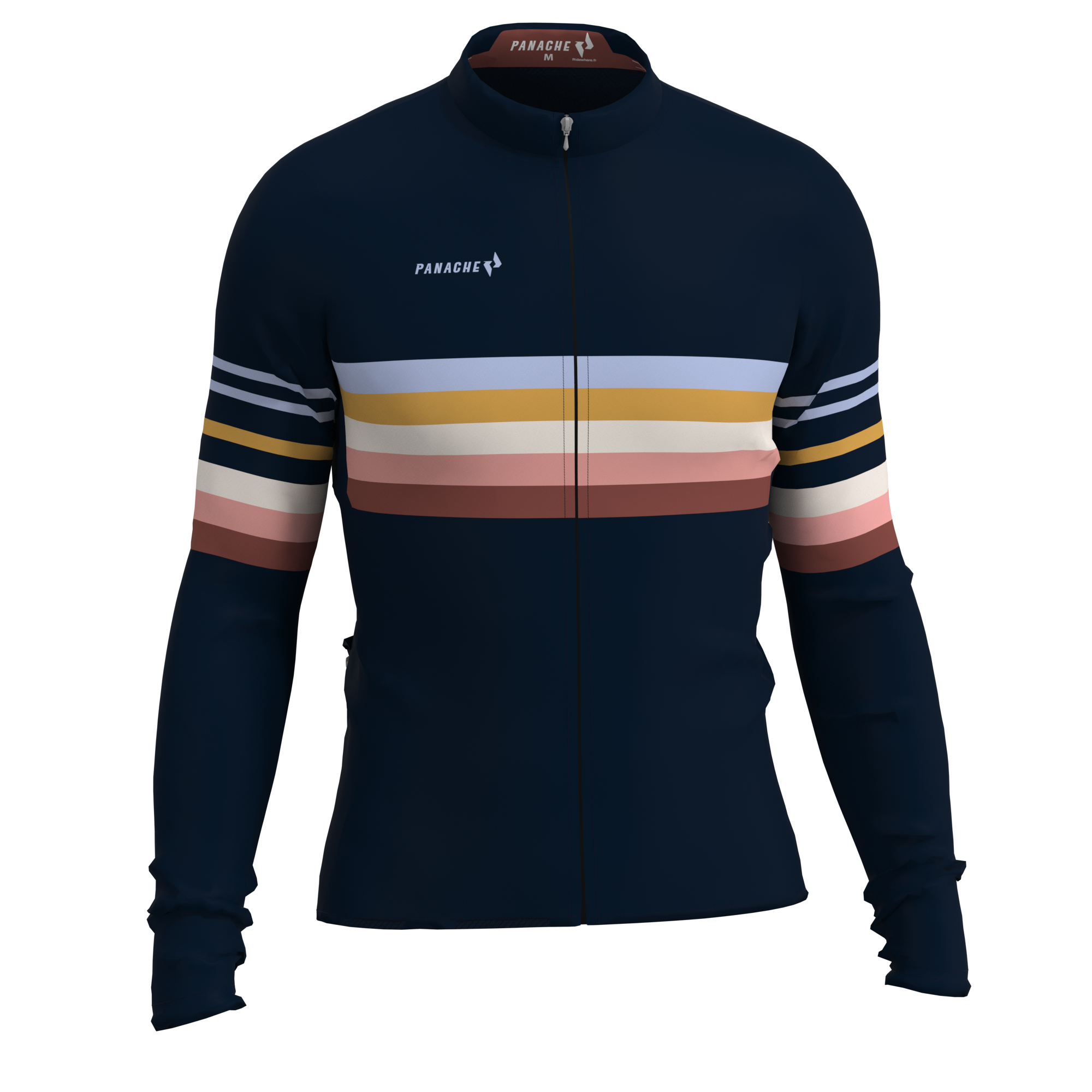 W's Beach Stripe Pro THERMAL Long Sleeve Jersey