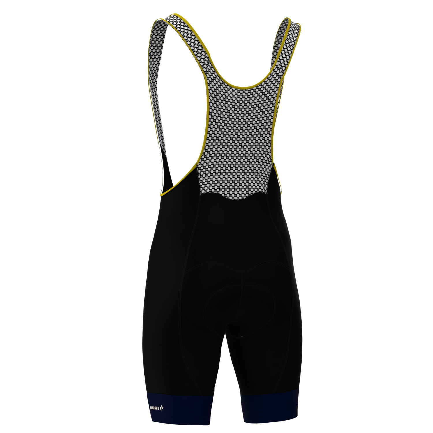 W's All-Black w/ Blue Band Pro Bib Short