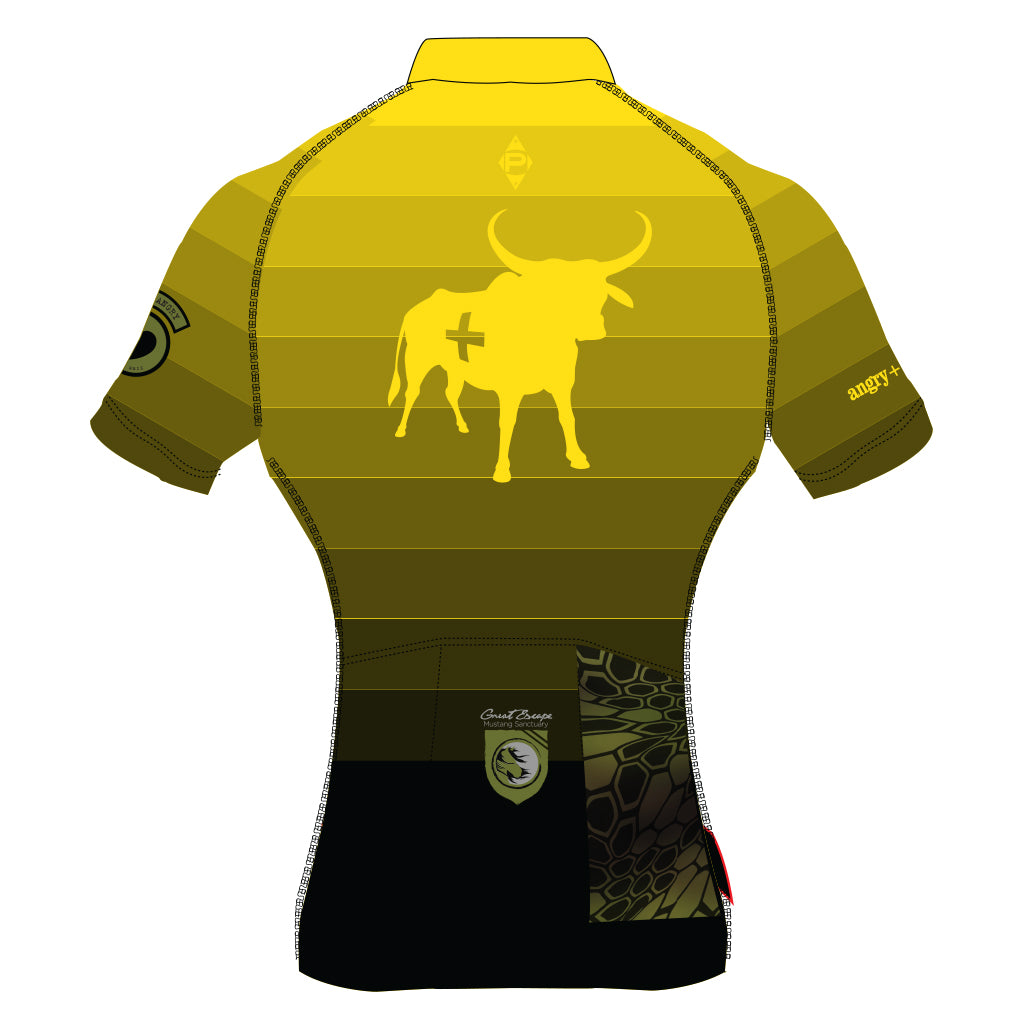 angry+bovine 2018 / Short Sleeve Jersey - Yellow Fade (Men's)