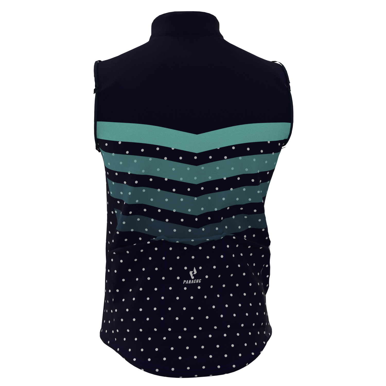 M's and W's Pro Wind Vest - Midnight Blue Polka