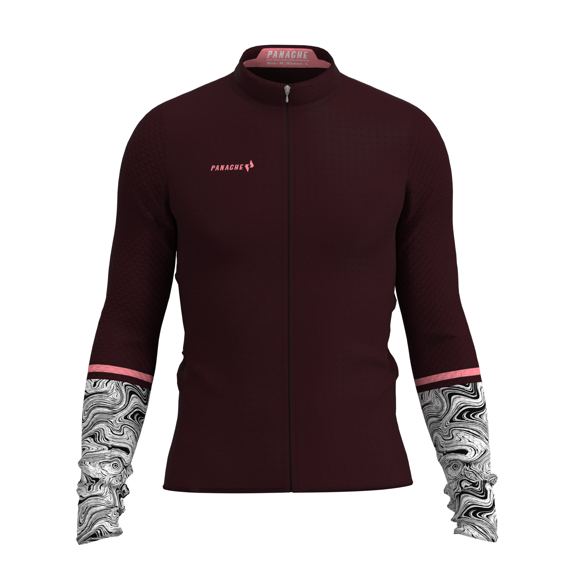 M's Burgundy Swirl Pro AIR  Long Sleeve Jersey