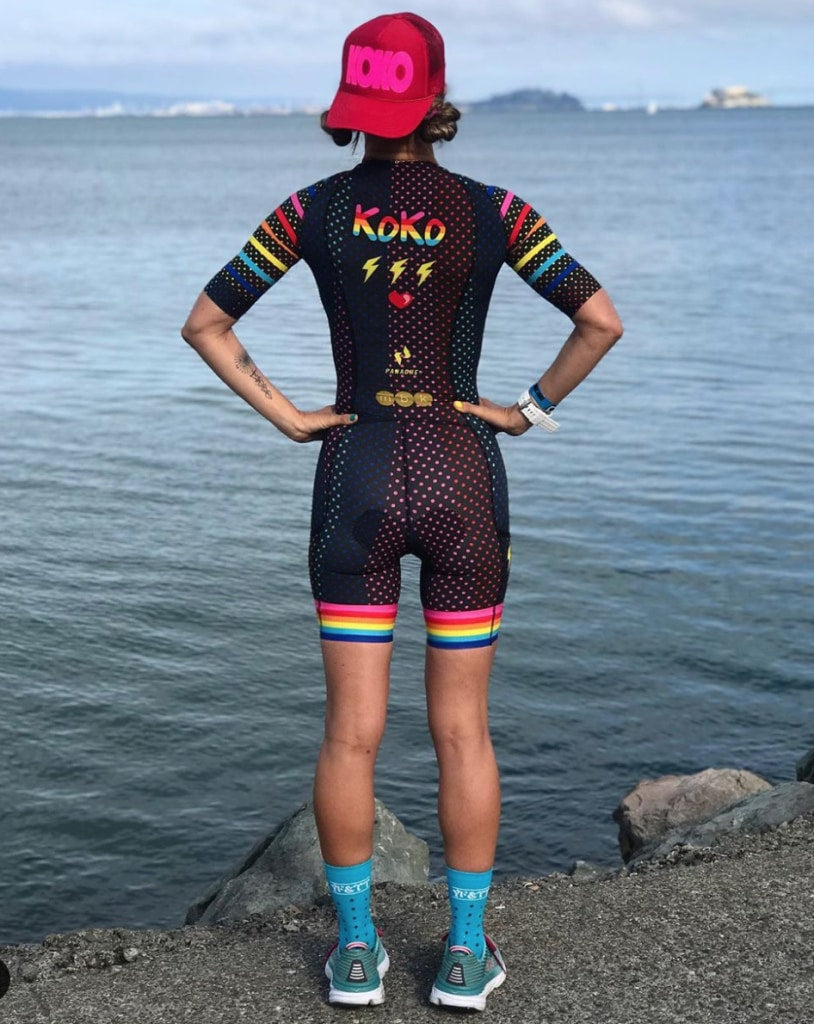 Customize It - Pre-Order #boompowcrew Race Tri Suit Women Panache Ss Tri Suit Women