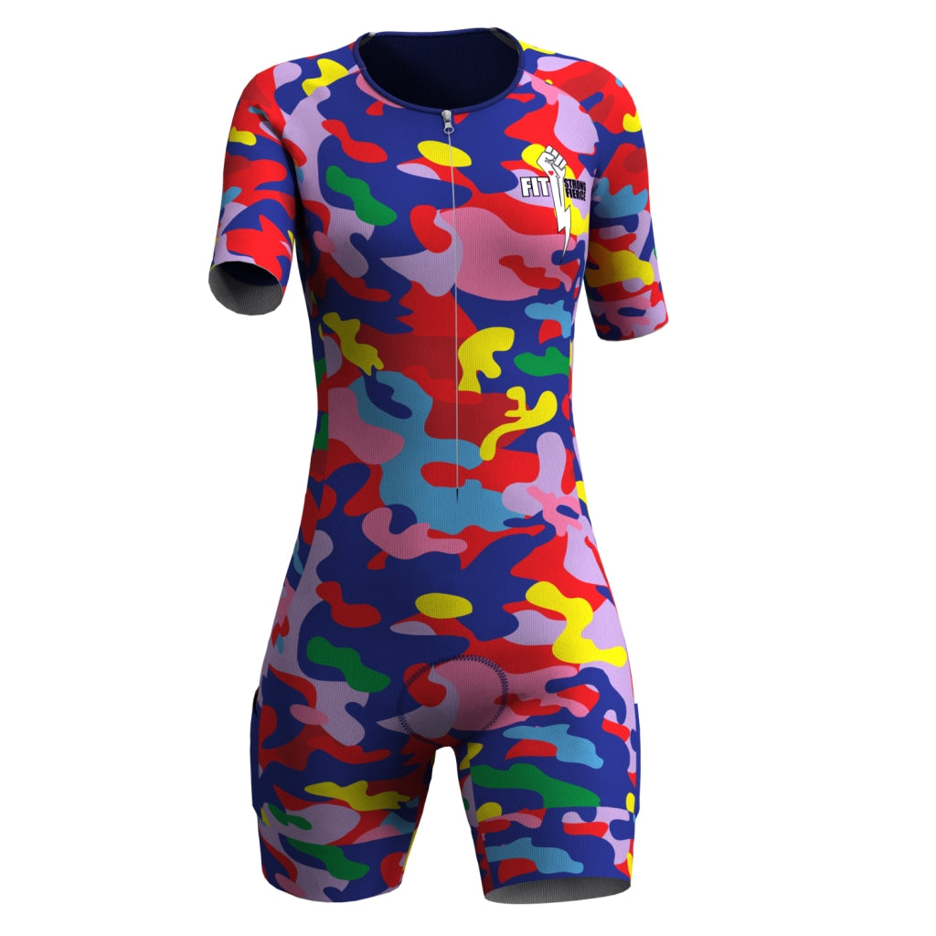Fsf - Womens Short Sleeve Tri Suit V-Lab Women Full