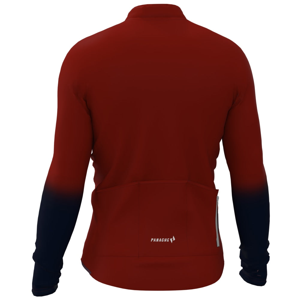 Maroon Pro Thermal Long Sleeve Jersey Long - Air