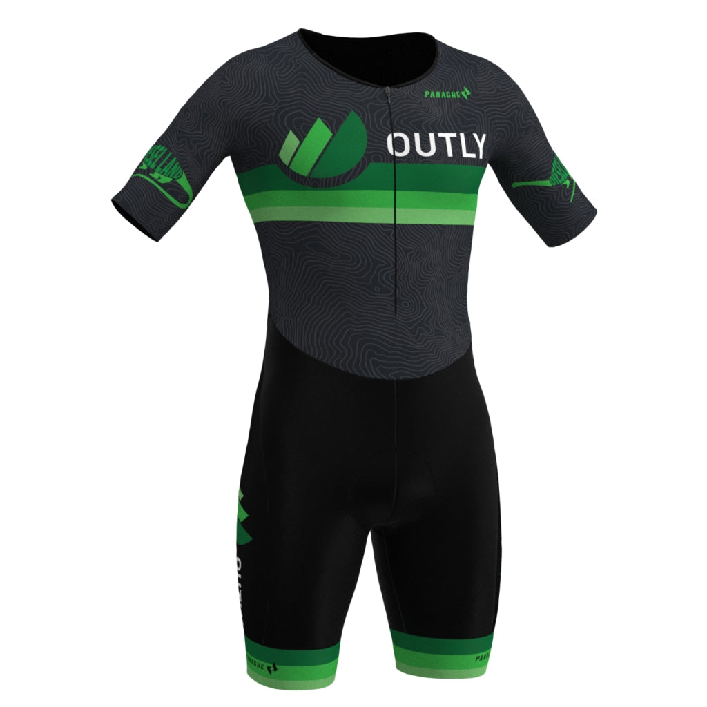 Outly - Womens Short Sleeve Tri Suit V-Lab Women