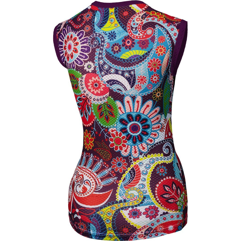 Paisley Sleeveless Base Layer Rs S U