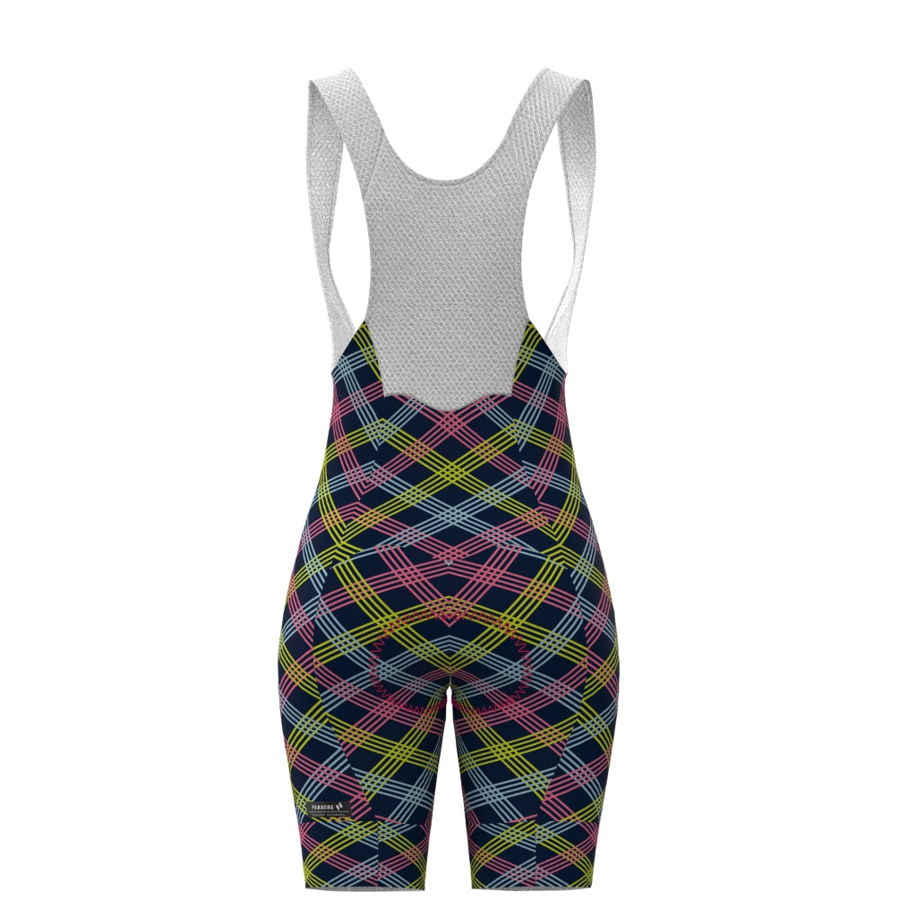 Pin Stripe Pro Bib Short Womens