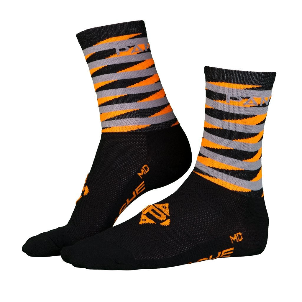 Pin Stripe Socks (Hot Orange) Sm Sock U