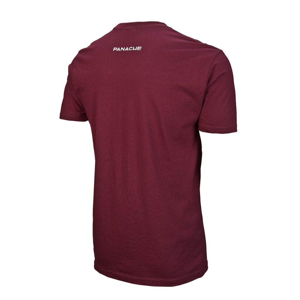 Polka Bike T-Shirt - Maroon Sm T-Shirt M