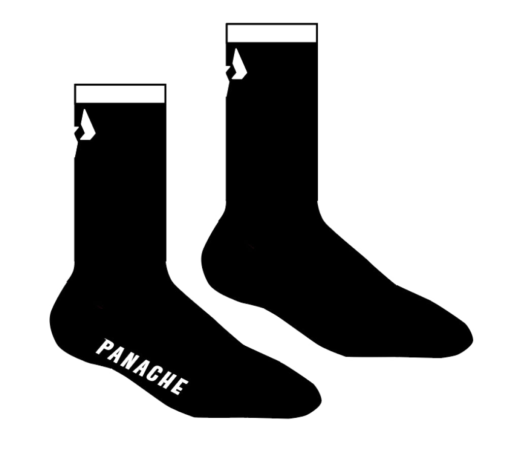 Pro 6 Cuff Socks - Black Sock