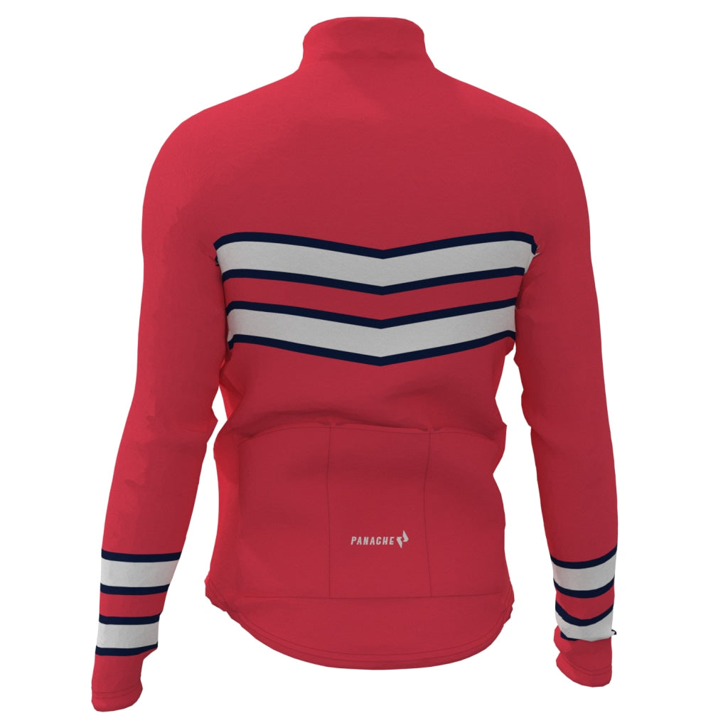 Ruby Red - Thermal Long Sleeve Jersey Long Weight