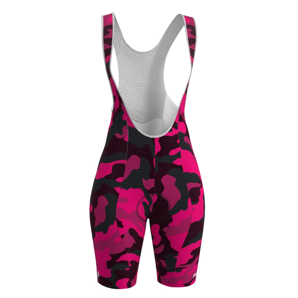 Ws Dot Camo Pro Bib Short Womens