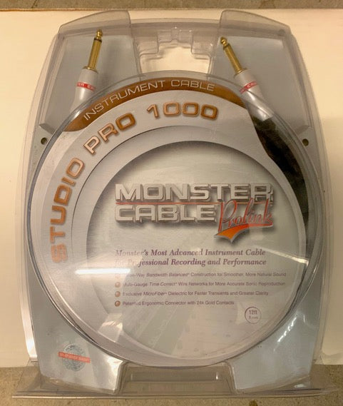 Monster Cable Studio Pro 1000 Prolink 12 Ft Instrument Cable Close-Out ON SALE