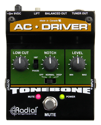 Radial AC Driver Acoustic Instrument Preamp