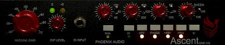 Phoenix Audio Ascent One EQ  Single-Channel Mic Preamp / DI