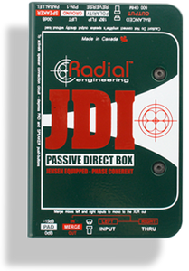 Radial JDI Passive Direct Box with Jensen Transformer